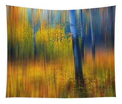 In The Golden Woods. Impressionism Tapestry