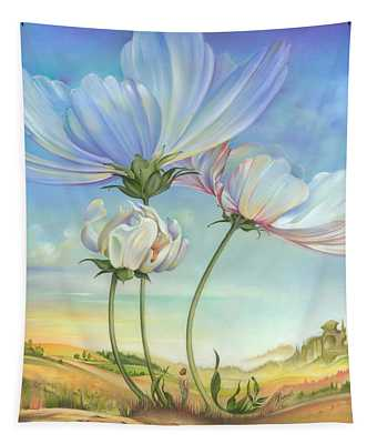 In The Half-shadow Of Wild Flowers Tapestry