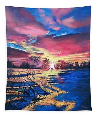 In The Still Of Dawn  Tapestry