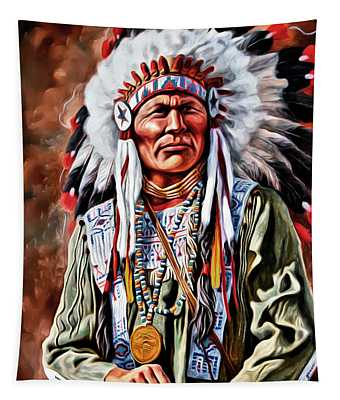 Indian Chief Tapestry