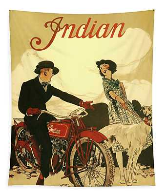 Indian Motorcycle Poster Tapestry