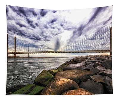 Indian River Bridge Clouds Tapestry