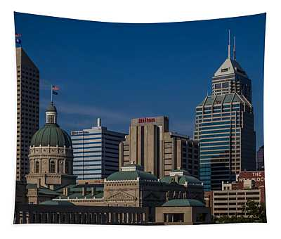 Indianapolis Skyscrapers Tapestry