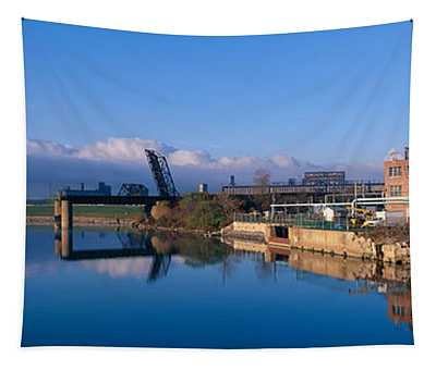 Industrial Landscape Along Rogue River Tapestry