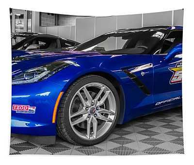 Indy 500 Corvette Pace Car Tapestry