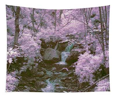 Infrared Mountain Stream Tapestry