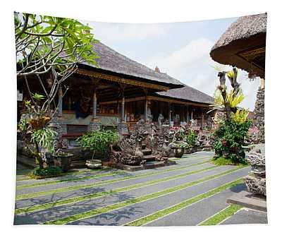 Inner Grounds Of The 1950s Pura Taman Tapestry