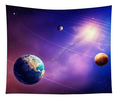Inner Solar System Planets Tapestry