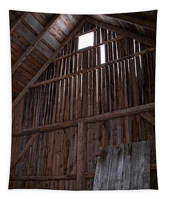 Inside An Old Barn Tapestry