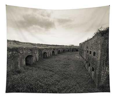 Inside Fort Macomb Tapestry
