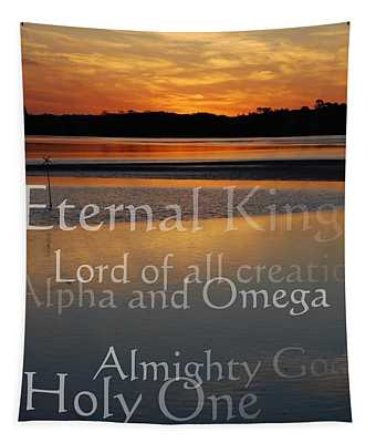 Inspirational Sunset Tapestry