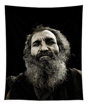Intense Portrait Tapestry