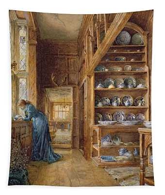 Interior Of A Panelled House Tapestry