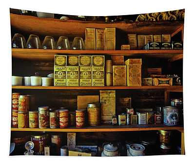 Interior Of General Store With Goods Tapestry