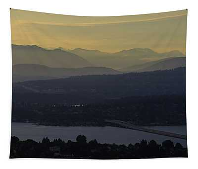 Interstate 90 Morning Light Layers Tapestry