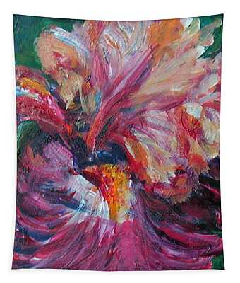 Iris - Bold Impressionist Painting Tapestry