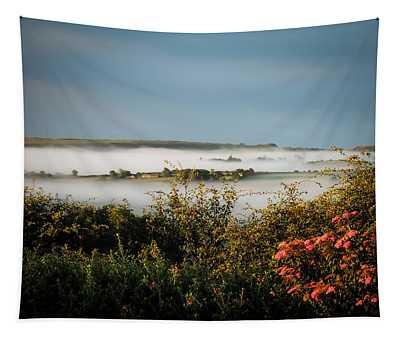 Tapestry featuring the photograph Irish Mist Over Lissycasey by James Truett