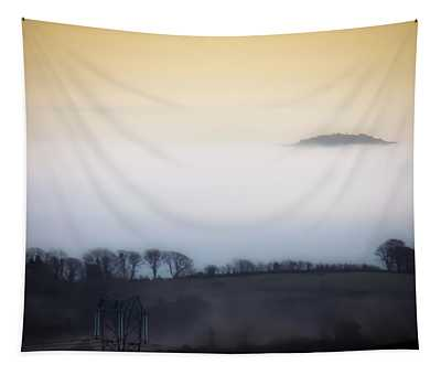 Tapestry featuring the photograph Island In The Irish Mist by James Truett