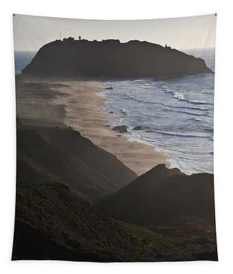 Island In The Pacific Ocean, Point Sur Tapestry