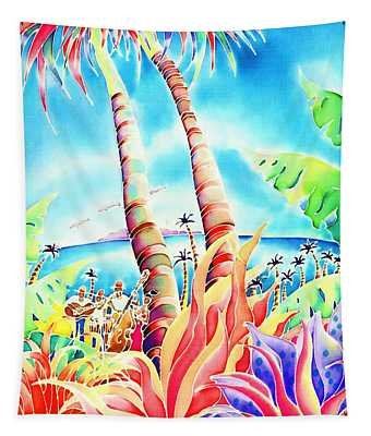 Island Of Music Tapestry