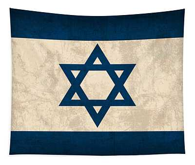 Israel Flag Vintage Distressed Finish Tapestry