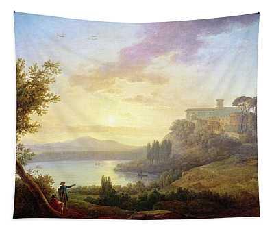 Italian Landscape, Setting Sun Tapestry