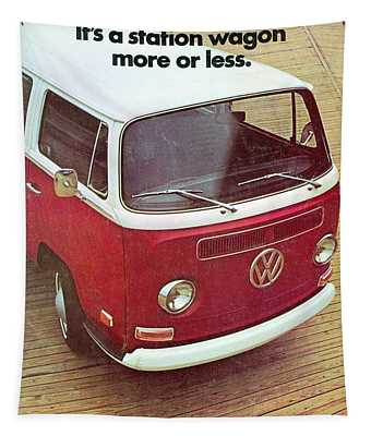 It's A Station Wagon More Or Less - Vw Camper Ad Tapestry