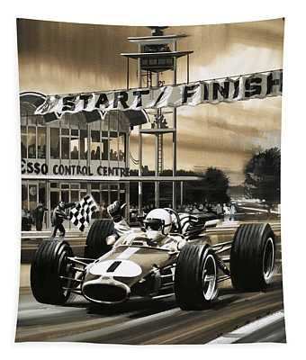 Jack Brabham Wins The First Ever Canadian Grand Prix Tapestry