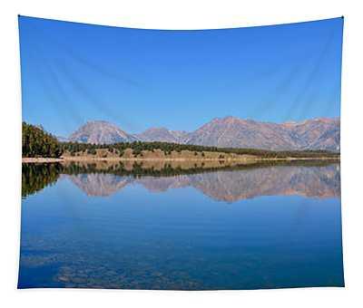 Jackson Lake Reflections Tapestry