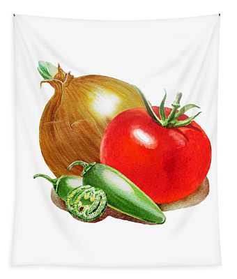 Jalapeno Onion Tomato Tapestry