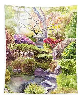 San Francisco Golden Gate Park Japanese Tea Garden  Tapestry
