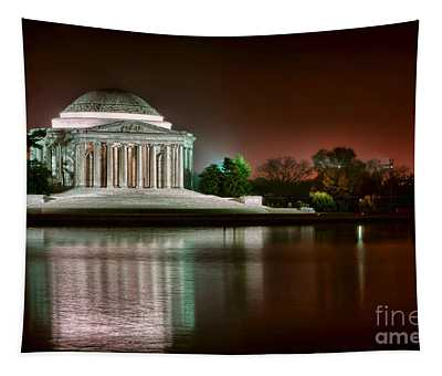 Jefferson Memorial At Night Tapestry