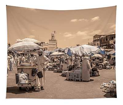 Jemaa El Fna Market In Marrakech Tapestry
