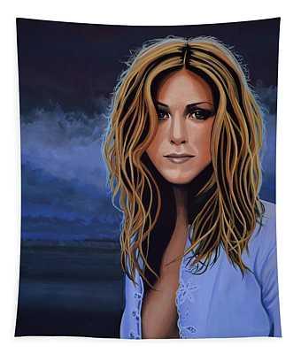 Jennifer Aniston Painting Tapestry