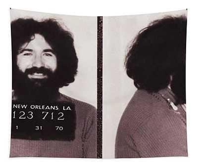Jerry Garcia Mugshot Tapestry