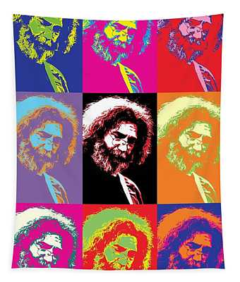 Jerry Garcia Pop Art Collage Tapestry