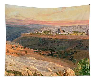Jerusalem From The Mount Of Olives Tapestry