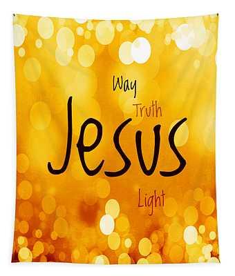 Jesus Light 1 Tapestry