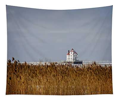 jewel of the Port Lorain Lighthouse Tapestry