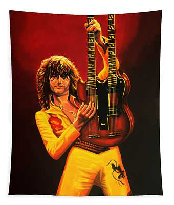 Jimmy Page Painting Tapestry