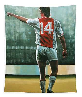 Johan Cruijff Nr 14 Painting Tapestry