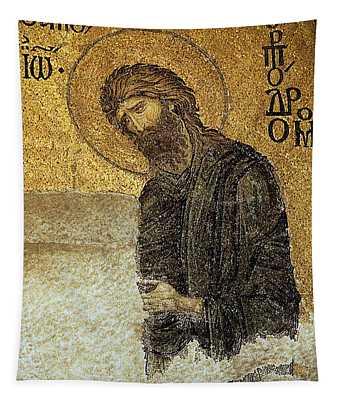 John The Baptist-detail Of Deesis Mosaic  Hagia Sophia-judgement Day Tapestry