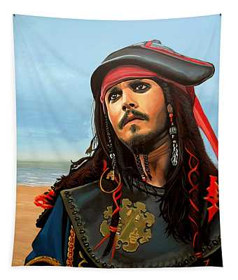 Johnny Depp As Jack Sparrow Tapestry