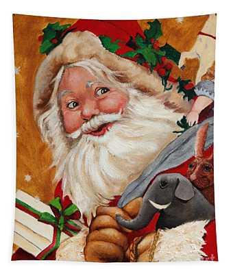 Jolly Santa Tapestry