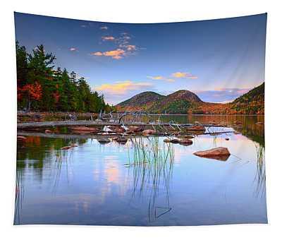 Jordan Pond In Fall Tapestry