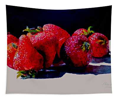 Juicy Strawberries Tapestry