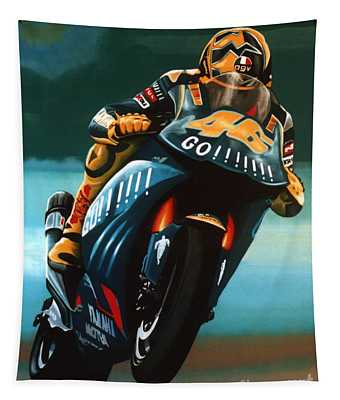 Jumping Valentino Rossi  Tapestry