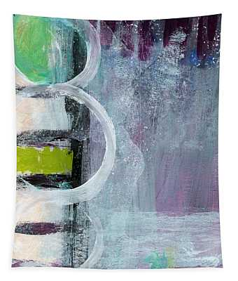 Junction- Abstract Expressionist Art Tapestry