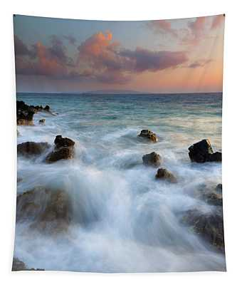 Kahoolawe Sunset Tapestry