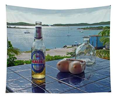 Kalik Beer Bottle At The Front Porch Tapestry